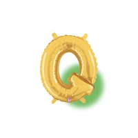 14in GOLD Letter Q Megaloon Jr., Price Per Bag of 5