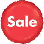 Sale Foil Balloon - Red Round