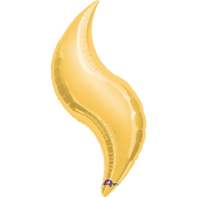 K'Mich Weddings - wedding planning - balloons - 42in GOLD CURVE Foil Balloon, Price Per Package of 3