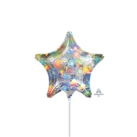 Fireworks Star Holographic Balloon