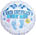 18 inch It's A Boy Certificate (2 side), Price Per EACH, Minimum Order 10