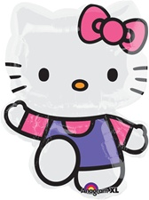 30 inch Hello Kitty Pink & Purple SuperShape Foil Balloon