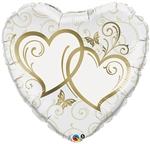 Gold Entwined Hearts Foil Balloon