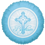 18 inch Baptism LIGHT BLUE, Price Per EACH, Minimum Order 10