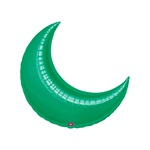26in GREEN CRESCENT Foil Balloon, Price Per Package of 3