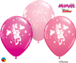11 inch Qualatex Disney Jr. MINNIE MOUSE Latex Assortment Balloon