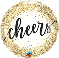 Cheers Glitter Dots Balloon