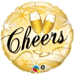18 inch Cheers Starburst foil balloon
