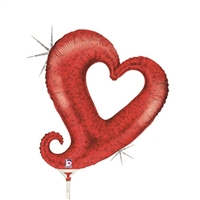 14 inch Chain of Hearts Red Balloon