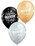 11 inch Qualatex Happy New Year Confetti Dots Assortment