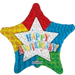 9 inch Anniversary Patterned Star