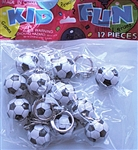1in Metal Soccerball Key Chain