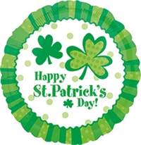 St. Patrick's Day Lucky Wishes Foil Balloon