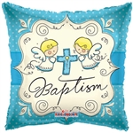 18 inch Cute Angels Baptism BLUE