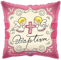 18 inch Cute Angels Baptism PINK