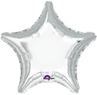 19 inch Star Anagram Foil SILVER shaped foil balloon silver