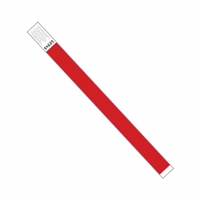 3/4in Tyvek Wristband NEON RED