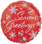18 inch Season's Greetings Sparkles Holographic