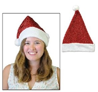 Full Size Metallic Santa Hat
