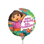 9 inch Dora The Explorer Happy Birthday