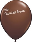 16 inch Qualatex Fashion CHOCOLATE BROWN Latex Balloon