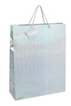 Large Gift Bags HOLOGRAM SILVER