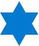 5in Die-cut Star of David