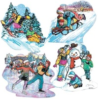 16 inch Winter Activity Cutout