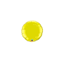 4 inch CITRINE Round Qualatex Foil Balloon