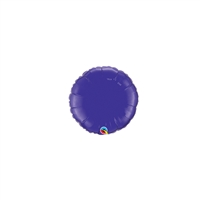 4 inch PURPLE Round Qualatex Foil Balloon