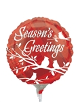 9 inch Season's Greetings Plaid Silhouettes