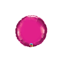 Round Qualatex Foil FUCHSIA Balloon