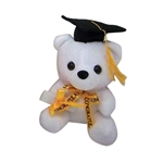 6 inch Black Hat Grad Bear
