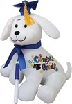 12 inch Graduation Autograph Dog with Royal Blue Hat with Pen
