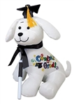 12 inch Graduation Autograph Dog with Black Hat with Pen
