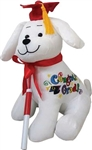 12 inch Graduation Autograph Dog with Red Hat with Pen