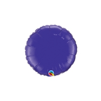 9 inch Round Qualatex Foil PURPLE, Price Per EACH, Minimum Order 20