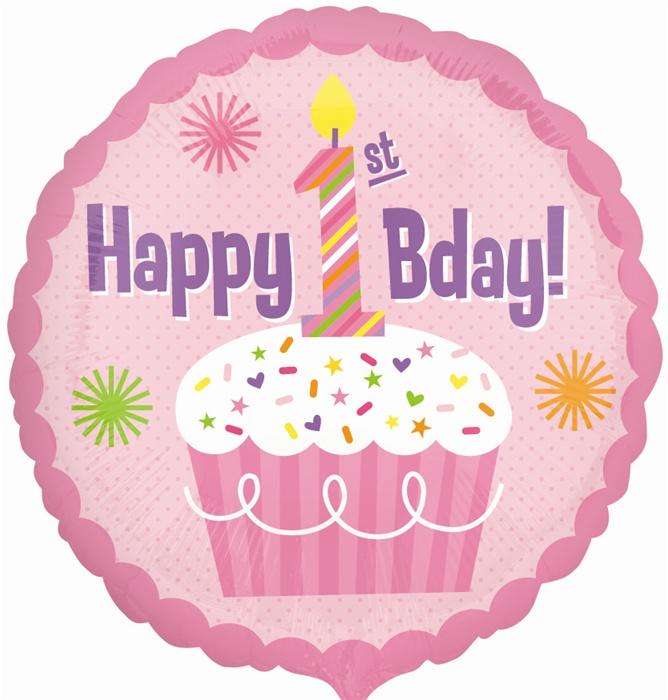 18 Inch Happy 1st Birthday Girl