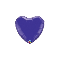 9 inch PURPLE Heart Foil Balloon