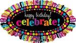 Happy Birthday Rainbow Celebrate Foil Balloon