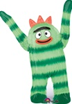 34 inch Yo Gabba Gabba Brabee Shaped foil balloon