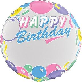18 Inch JW Pastel Birthday Balloons