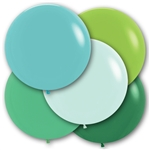 24 inch Party in Green Balloons