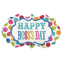 27 inch Boss's Day Dots Marquee
