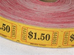 Assorted Color Single Tickets $1.50, Price Per Roll of 2000