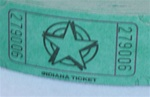 Assorted Color Single Tickets STAR, Price Per Roll of 2000