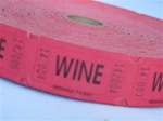 Assorted Color Single Tickets WINE