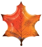 25 inch Orange Maple Leaf Foil Balloon