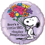 18 inch Snoopy Get Well Tender Beagle foil balloon