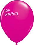 16 inch  WILD BERRY Qualatex Fashion color Latex Balloon
